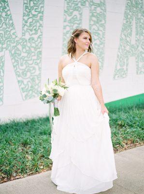 Bride at Tiny Wedding
