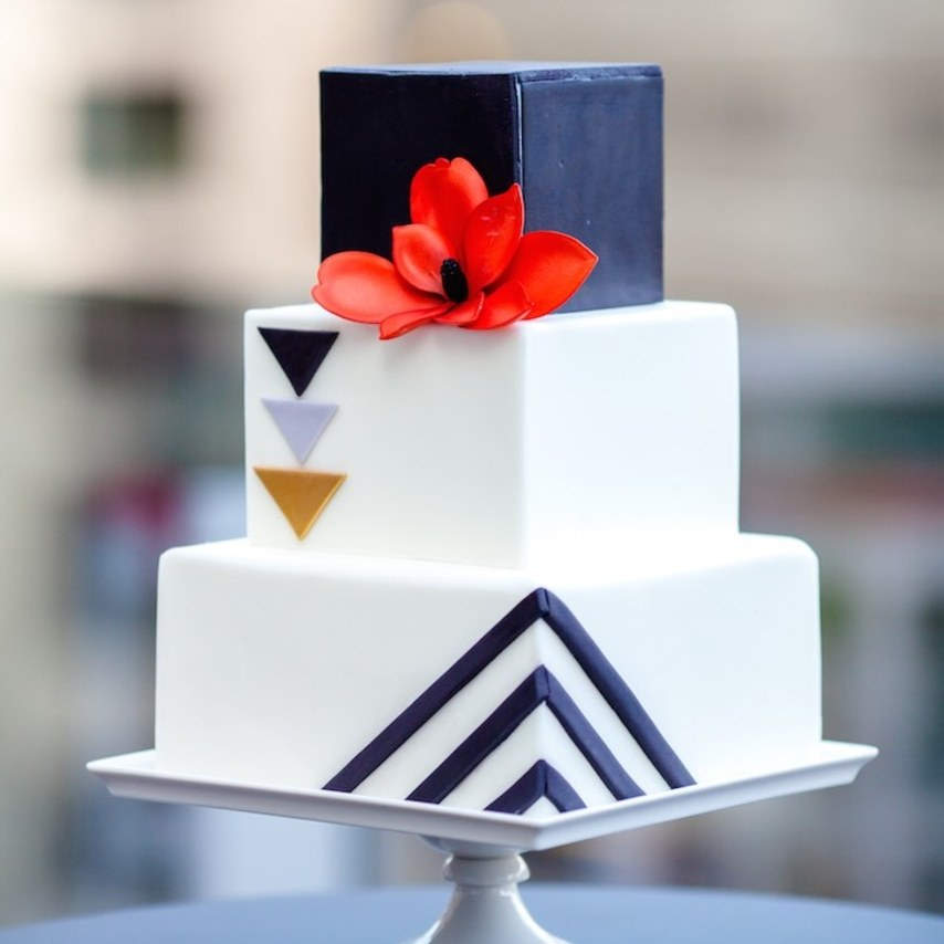 8 Square Wedding Cakes Perfect For A Modern Couple